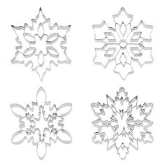 Giant Snowflake Stainless-Steel Cookie Cutter Collection from William Sonoma (keep an eye out for them next year)