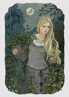 ...But when she began the seventh she found she had no more flax. She knew that the nettles she wanted to use grew in the churchyard, and that she must pluck them herself. How should she get out th...