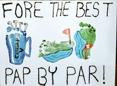 #FathersDay #Golf #Footprints #Craft #Par #Fore #Toddler #Baby #Grandfather #Pap