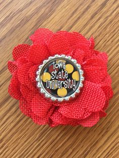A personal favorite from my Etsy shop https://www.etsy.com/listing/503616146/iowa-state-isu-flower-hair-clip-with