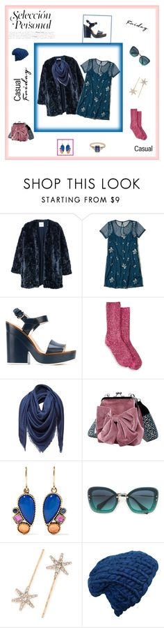 """Casual. Friday. Friends."" by hkristen on Polyvore featuring MANGO, Hollister Co., Jil Sander Navy, HUE, Loewe, Larkspur & Hawk, Miu Miu, Jennifer Behr e BEA"