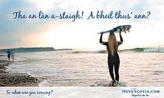 Gaelic Postcard - Surf's up! You in? - Nova Scotia