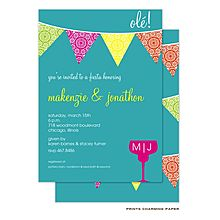 Cute couple's shower or fiesta invite available at Note Worthy