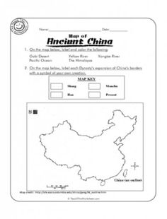 ancient china activities and worksheets ancient china pinterest ancient china worksheets. Black Bedroom Furniture Sets. Home Design Ideas