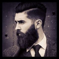 Cool beard and suit!