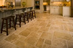 Versailles pattern chiesled edge travertine ~ Palatial Stone and Tile