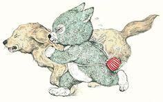"""人気画家・ヒグチユウコの""""猫づくし""""新作絵本が登場! Japanese Illustration, Art And Illustration, Illustrations Posters, Animal Drawings, Art Drawings, Japanese Artwork, Miss Kitty, Bizarre Art, Cute Poster"""