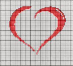 schema punto croce cuori vari2   Hobby lavori femminili - ricamo - uncinetto - maglia