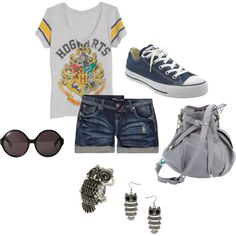 Outing for a Hogwarts adventure at Universal Studios, created by renee-marie-dingus-kennedy.polyvore.com