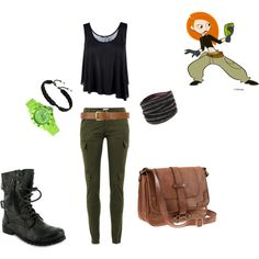 Kim Possible, created by anicamarie on Polyvore