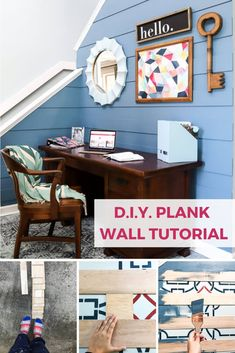 How about a modern take on traditional shiplap and plank walls? Learn how to make your own modern DIY plank wall with this easy, step-by-step tutorial. Diy Home Decor On A Budget, Home Decor Items, Diy Room Decor, Living Room Decor, Affordable Furniture, Affordable Home Decor, Diy Furniture, Painted Furniture, Rental Decorating