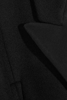 Stella McCartney - Twill-trimmed Wool-blend Cape - Black - IT38