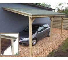 Carport adossé BRUGES - Bois - 15 m² - 1 voiture