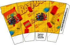 Caixa Pipoca Batman Lego Super Heroes: