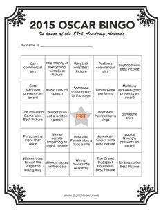 Printable Oscar Bing