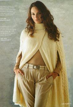 lo spazio di lilla: Pronte per l'inverno? Coprispalle, giacchina e mantella ai ferri! / Ready for winter? Knit a ruffled shrug, a little jacket and a cape!