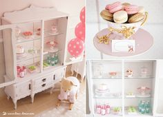 Vintage baby shower with polka dot balloons - Design Dazzle