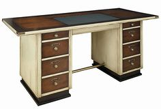 Captain's Desk, Ivory on OneKingsLane.com  Wish there was more info this could be a good replacement for our old roll top  Reducd from 2,150 to 1,399, still pricey for not seeing it in person.