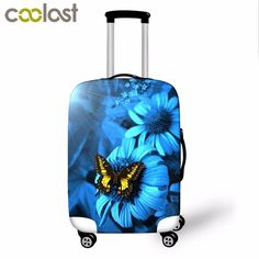 print flower luggage cover cut suitcas protectorsapply to inch suitcase women travel waterproof luggage cover Best Travel Accessories, Luggage Cover, Flower Prints, Traveling By Yourself, Suitcase, 3d Printing, Make It Yourself, Flowers, Stuff To Buy