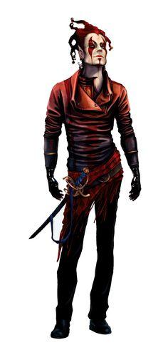 Half-Elf Jester Bard - Pathfinder PFRPG DND D&D d20 fantasy