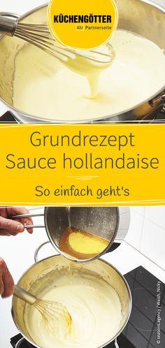 Die klassische Sauce hollandaise schmeckt nicht nur zu frischen Spargel, sondern auch zu einer Reihe anderer Gerichte. Wir verraten dir ein einfaches Grundrezept.