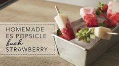 Resep Es Popsicle Buah Strawberry Ala HIJUP