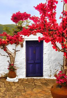 Blue Door - Skopelos Island (Sporades), Greece // by Onlyonestasia on Flickr