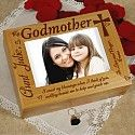 Personalized godmother box.  A perfect gift from the communicant or the baptised child.
