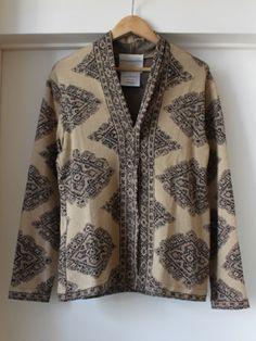 """Stephan Schneider, Belgium  - Kashan Cardigan """" Beige """" - love the pattern"""