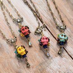 Day of the Dead Calavera #Skull Necklace