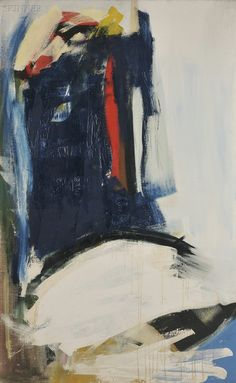 Peter Lanyon Deep Blue Coast 1961 Oil on canvas 122 x 76 cm Signed, dated lower left and further signed, dated & titled on reverse Maria Emilia, Modern Art, Contemporary Art, Clark Art, Found Art, Pour Painting, Art Sketchbook, Figurative Art, Painting Inspiration