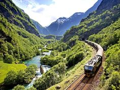 Norway's Flam Railway features a steep climb through fjord country.