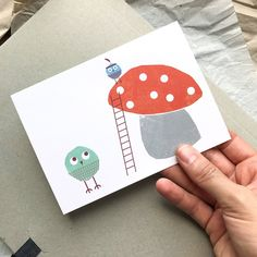 Postkarte »Kletterspaß« von TheKautziShop auf Etsy Postcards, Playing Cards, Poster, Etsy, Craft Gifts, Playing Card Games, Game Cards, Billboard, Greeting Card