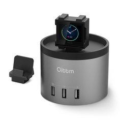 Oittm Charger Stand für Fitbit Blaze 3-Port Ladegerät 3 in 1 Multifunktionelle Ladestation mit 1 Handy Ladestation Tragbar Aufladen Ständer für Fitbit Blaze: Amazon.de: Elektronik