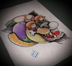 #panther #tattooflash #kitchen #food