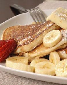 Protein-Pancakes mit Banane: #protein #pancakes #gesunderezepte