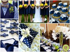 Inspiration Board: Classic Navy Blue Wedding (Add some purple)
