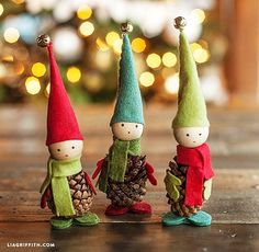 Pine Cone Elves | Pine Cone Decorating Ideas For The Holidays