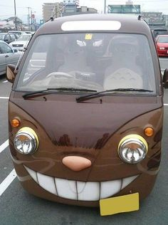 It's Catbus from my neighbour Totoro (and he's behind the wheel if you look close enough) this is amazing!