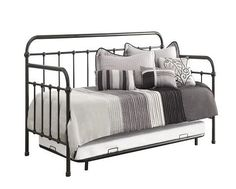 Coaster Fine Furniture - Coaster Twin Metal Daybed With Trundle in Dark Bronze - Daybeds Metal Daybed With Trundle, White Daybed, Trundle Mattress, Trundle Beds, Mattress Frame, Twin Beds, Guest Bedroom Decor, Guest Room, Bedroom Ideas
