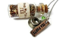 Mad Hatter Tea Glass Vial Necklace Alice In by TheSpangledMaker, $22.00