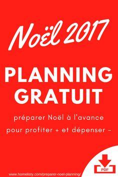 Demandez votre planning PDF gratuit pour préparer Noël à l'avance.