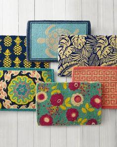 "Garnet Hill Doormat Collection | 24""x36"" $34 Blue Suzani"