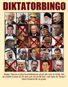 Dictator Bingo, getting closer thanks to Kim Jong-Il. All the kudos to Ymir and Ackerfors.