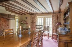 Sugarloaf Cottage: grade ll listed, brick and timber framed, and built around a central fireplace <3