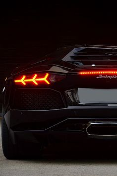 Rear end of the Aventador