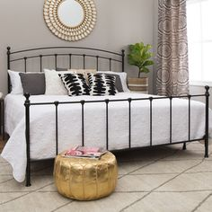 Get the restful night's sleep you deserve in this Kristin king-size bed. Use the large expanse of this bed to throw on several of your favorite pillows. The generous size gives you plenty of room to s Bedroom Sets, Master Bedroom, Bedroom Decor, Bedroom Modern, Master Suite, Bedrooms, Bedroom Furniture Stores, Furniture Deals, Furniture Outlet
