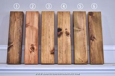 six ways to stain pine - 2