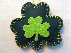Green Shamrock - Shamrock Ornament - Felt - Holidays - St. Patricks Day - Party Favor  - Home Decor - St. Patrick's Day Decoration - #6 on Etsy, $4.99