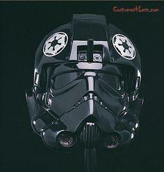 Hard plastic (Vinyl) Helmet. Star Wars Tie Fighter Collectable Helmet Mask Manufactured by Rubies.